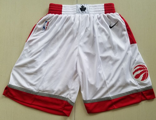 Men's Toronto Raptors Nike White Association Edition Swingman Performance Shorts