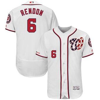 Men's Washington Nationals #6 Anthony Rendon Majestic White Flex Base Player Jersey