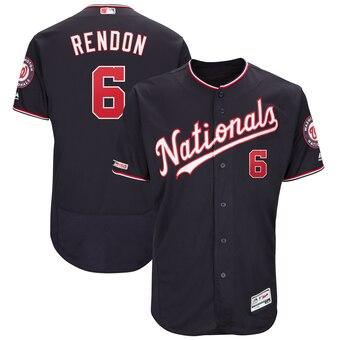 Men's Washington Nationals #6 Anthony Rendon Navy Alternate Authentic Flex Base Player Jersey