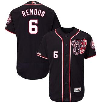 Men's Washington Nationals #6 Anthony Rendon Navy Alternate Collection Flex Base Jersey