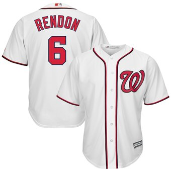 Men's Washington Nationals #6 Anthony Rendon White Cool Base Jersey