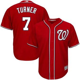 Men's Washington Nationals #7 Trea Turner Red Cool Base Jersey