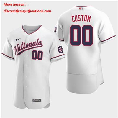Men's Washington Nationals Custom 2020 White Flexbase Jersey