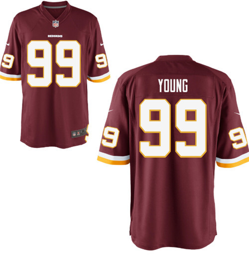 Men's Washington Redskins #99 Chase Young Burgundy 2020 NFL Draft First Round Pick Red vapor Limited Jersey