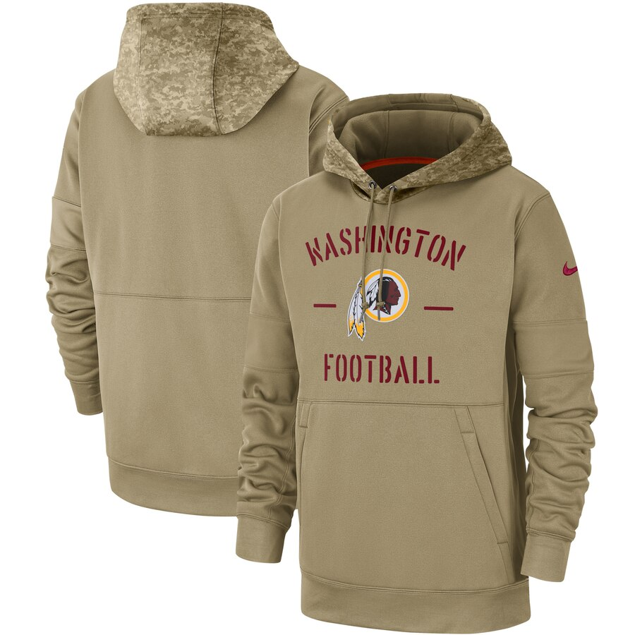Men's Washington Redskins 2019 Salute To Service Sideline Therma Pullover Hoodie