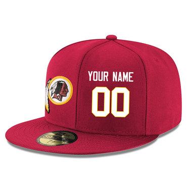 Men's Washington Redskins red Color Snapback Custom Hat (Stitched any nameνmber)