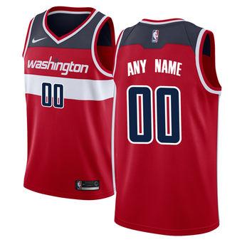 Men's Washington Wizards Red Custom Jersey