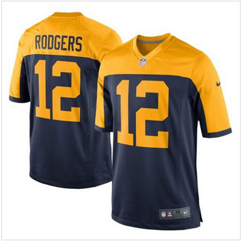 Men Green Bay Packers #12 Aaron Rodgers Navy Blue NFL New Limited Jersey