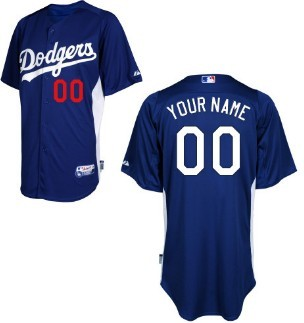 Men Los Angeles Dodgers Customized Blue Jersey