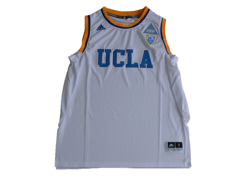 Mens Custom NUCLA Bruins College Basketball White Jersey