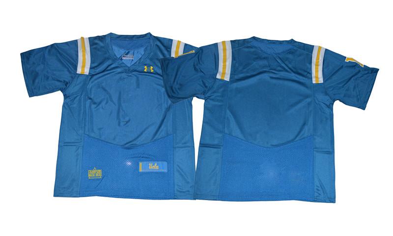 Mens Custom NUCLA Bruins College Football Blue Jersey