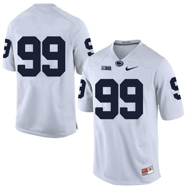 Mens Nike Penn State Nittany Lions #99 Stitched Navy College Football Jersey - No Name