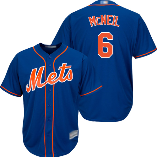 Mets #6 Jeff McNeil Blue Cool Base Stitched Youth Baseball Jersey