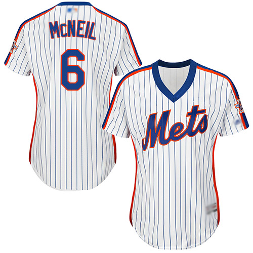 Mets #6 Jeff McNeil White(Blue Strip) Alternate Women's Stitched Baseball Jersey