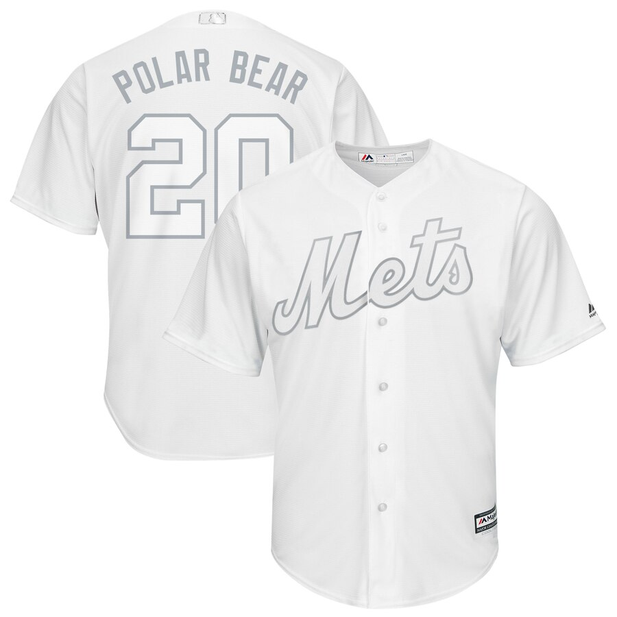Mets 20 Pete Alonso Polar Bear White 2019 Players' Weekend Player Jersey