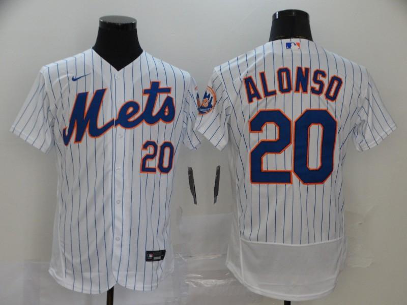 Mets 20 Pete Alonso White 2020 Nike Flexbase Jersey