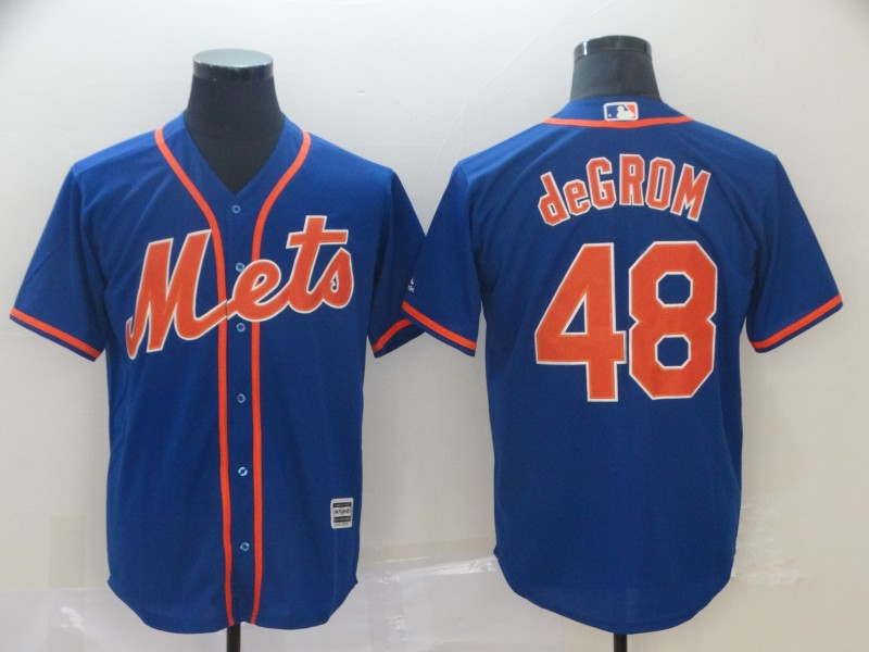 Mets 48 Jacob DeGrom Royal Cool Base Jersey