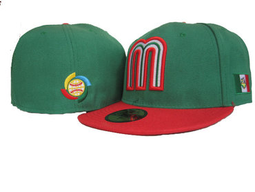 Mexico Baseball World Baseball Classic Fitted Hat Green