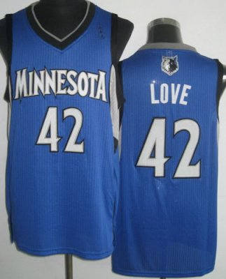 Minnesota Muskies 42 Kevin Love Blue Revolution 30 NBA Jerseys