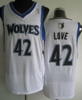 Minnesota Muskies 42 Kevin Love White Revolution 30 NBA Jerseys