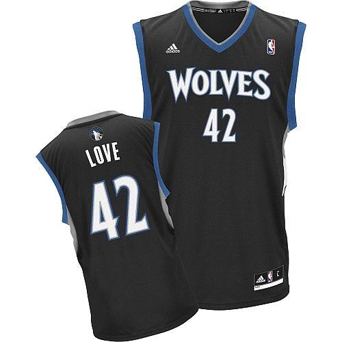 Minnesota Timberwolves 42 Kevin Love BLACK Jersey