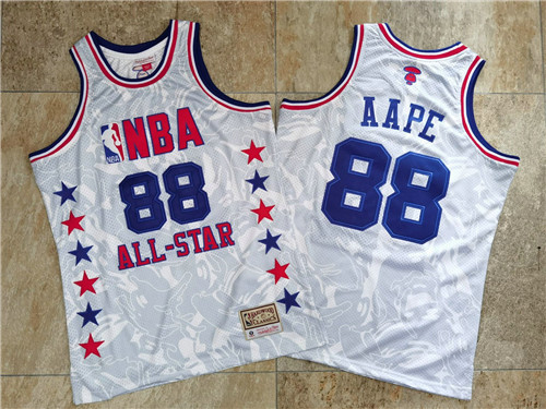 NBA 88 AAPE All Star White Hardwood Classics Jersey