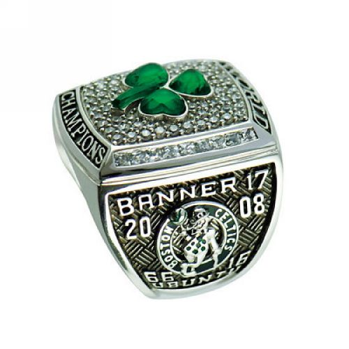 NBA Boston Celtics World Champions Silver Ring