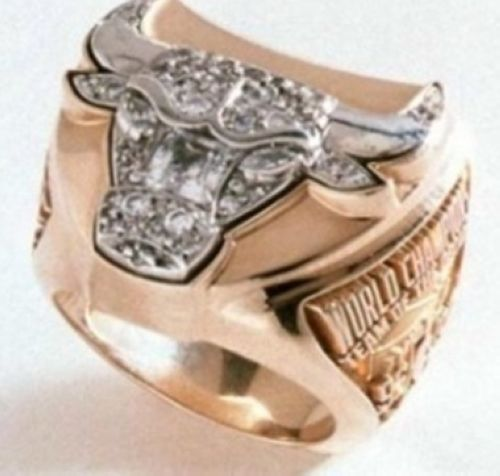 NBA Chicago Bulls World Champions Gold Ring_3