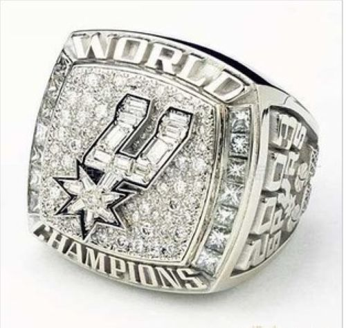 NBA San Antonio Spurs World Champions Silver Ring