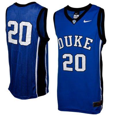 NEW Duke Blue Devils #20 Replica Aerographic Basketball Jersey - Duke Blue