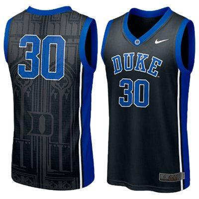 NEW Duke Blue Devils #30 Elite Aerographic Replica Basketball Jersey - Black