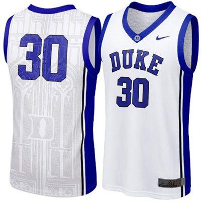 NEW Duke Blue Devils #30 Elite Aerographic Replica Basketball Jersey - White