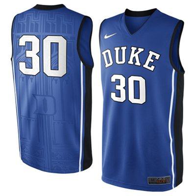 NEW Duke Blue Devils #30 Elite Replica Basketball Jersey - Duke Blue