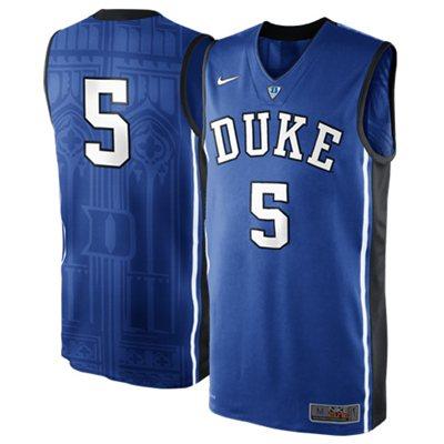 NEW Duke Blue Devils #5 Authentic Elite Basketball Jersey - Duke Blue