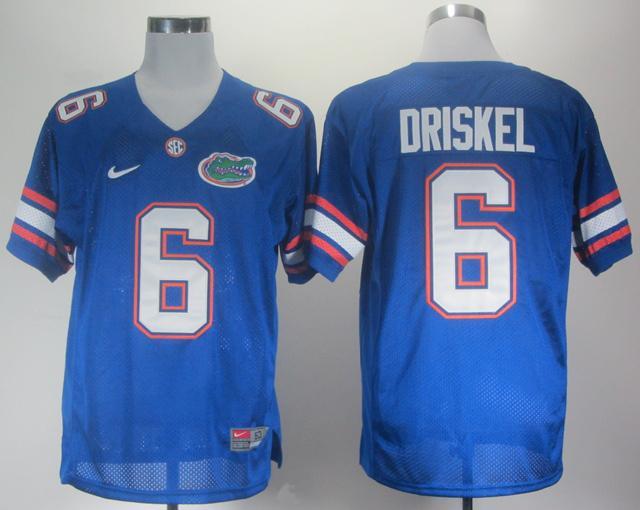NEW Florida Gators Jeff Driskel 6 Royal Blue College Football Jerseys