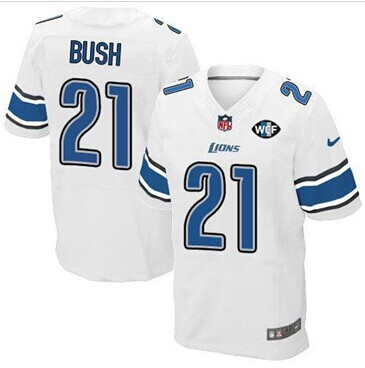 competitive price a8ec2 3f32d NEW Lions #21 Reggie Bush White With WCF Patch Jersey on ...