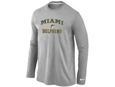 NEW Miami Dolphins Heart & Soul Long Sleeve T Shirt White on sale  hot sale