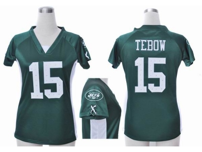 7cbfe542aa2 NEW Women New York Jets 15 Tim Tebow green jerseys(draft him ii top)