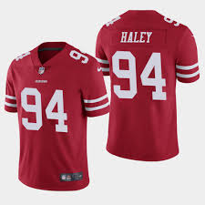 NFL 49ers #94 Charles Haley Vapor Limited Red Color Jerseys