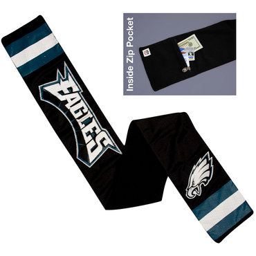NFL Philadelphia Eagles Jersey Scarf With Zip Pocket