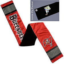 NFL Tampa Bay Buccaneers Jersey Scarf With Zip Pocket