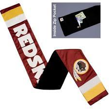 NFL Washington Redskins Jersey Scarf With Zip Pocket