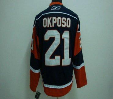 NHL Jerseys Channel Islands #21 OKPOSO blue