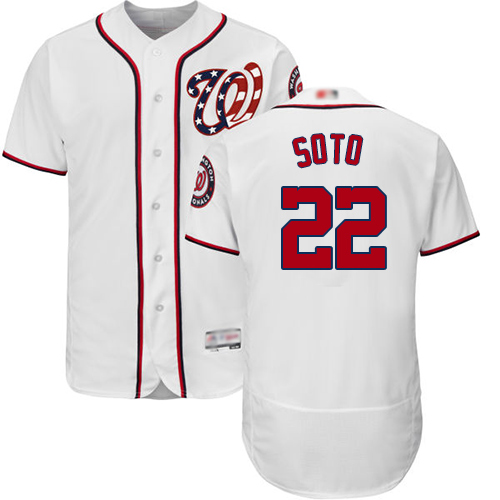 Nationals #22 Juan Soto White Flexbase Authentic Collection Stitched Baseball Jersey