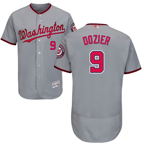 Nationals #9 Brian Dozier Grey Flexbase Authentic Collection Stitched Baseball Jersey