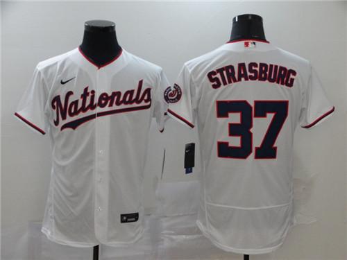 Nationals 37 Stephen Strasburg White 2020 Nike Flexbase Jersey