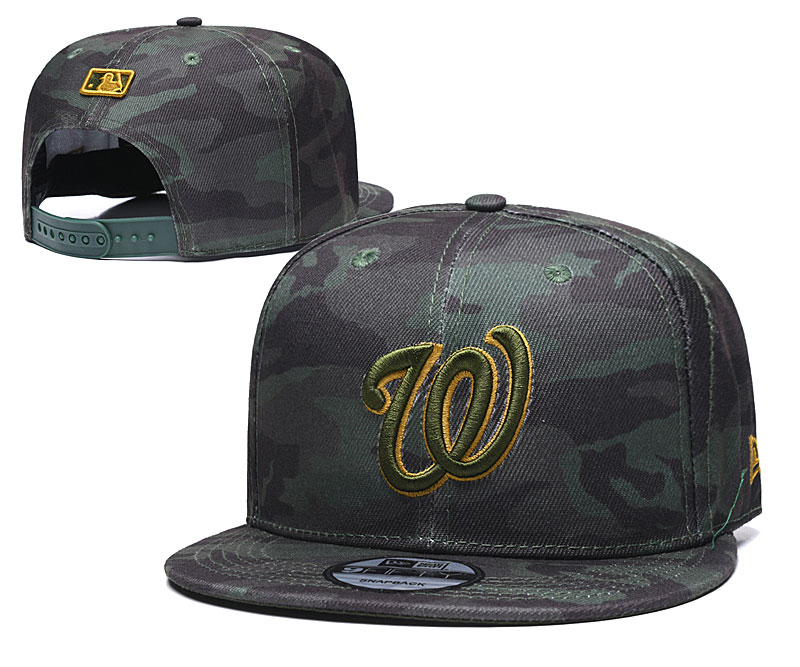 Nationals Team Logo Camo Adjustable Hat TX