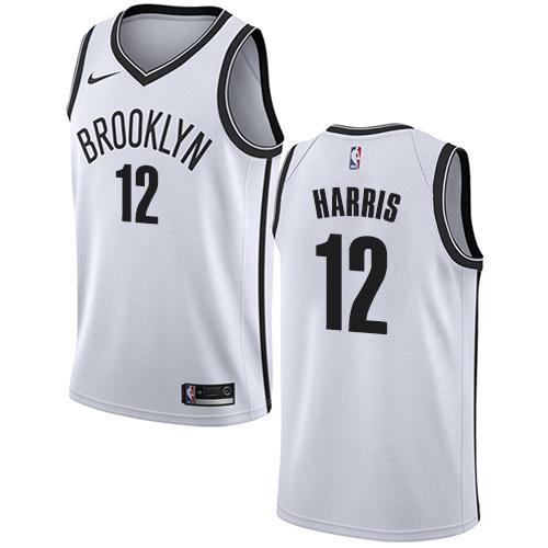 Nets #12 Joe Harris White Basketball Swingman Association Edition Jersey