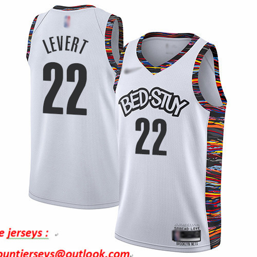 Nets #22 Caris LeVert White Basketball Swingman City Edition 2019 20 Jersey