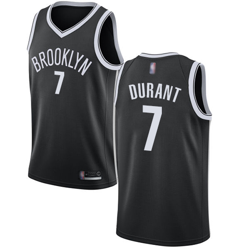 Nets #7 Kevin Durant Black Basketball Swingman Icon Edition Jersey